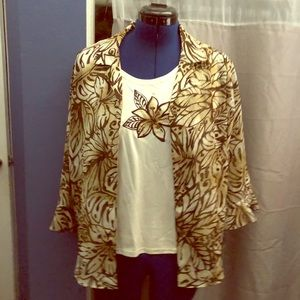Women shirt and blouse combination